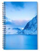 Cool Blue Dawn Over Mount Olstind Spiral Notebook
