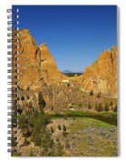 Crooked River At Smith Rock State Park Oregon  Spiral Notebook