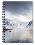 Dawn At Hamnoy On The Lofoten Islands Spiral Notebook