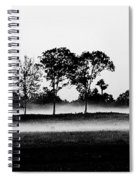 Evening Mist Black And White Spiral Notebook