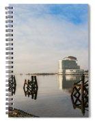Fog In The Bay 2 Spiral Notebook