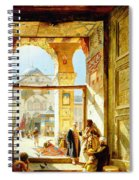 Gate Of The Great Mosque. Damascus Spiral Notebook