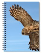 Great Gray Owl Plumage Patterns In-flight Spiral Notebook