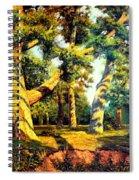 Green Summer-the Oak Forest Spiral Notebook