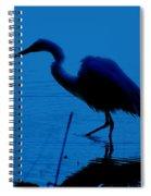 Heron In Water Spiral Notebook