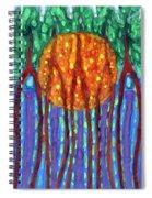I Flow To Violet Spiral Notebook