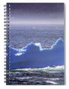 Iceberg Floating By Spiral Notebook