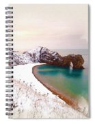Illustration Of  The Durdle Door In Snow Spiral Notebook