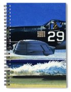 Into The Blue American War Planes Spiral Notebook