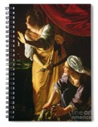 Judith And Maidservant With The Head Of Holofernes Spiral Notebook
