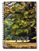 Landscape Under A Big Oak In Autumn Spiral Notebook