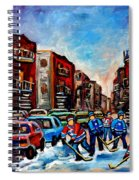 Late Afternoon Street Hockey Spiral Notebook