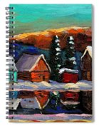 Laurentian Landscape Quebec Winter Scene Spiral Notebook