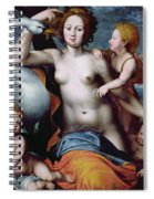 Leda And The Swan Spiral Notebook