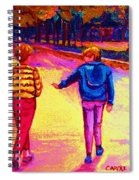 Lets Play Ball At Beaverlake Park Spiral Notebook