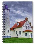 Lighthouse At Point Iroquois Spiral Notebook