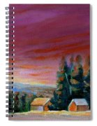 Lovely Sweeping Skies  Spiral Notebook