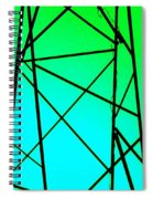 Metal Frame Abstract Spiral Notebook