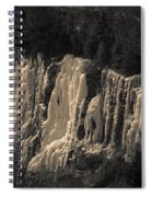 Mountain Side Ice Spiral Notebook