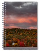 New England Fall Foliage Over The Small White Church Spiral Notebook