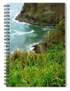 Oregon's Seaside Cliffs In Springtime Spiral Notebook
