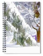 Pine Branch Tree Under Snow Spiral Notebook
