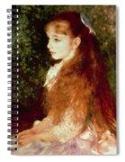 Portrait Of Mademoiselle Irene Cahen D'anvers Spiral Notebook