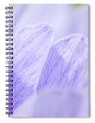 Purple Anemone Flower  Spiral Notebook