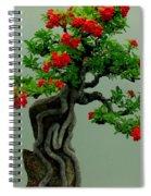 Red Berried Bonsai Spiral Notebook