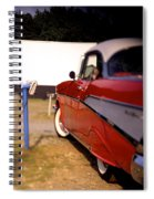Red Chevy At The Drive-in Spiral Notebook