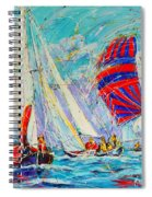 Sail Of Amsterdam II - Tree Sailboats  Spiral Notebook