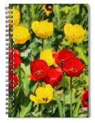 Spring Landscape With Tulips Spiral Notebook
