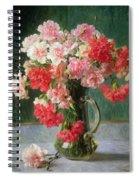 Still Life Of Carnations   Spiral Notebook