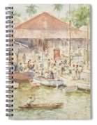 The Market Belize British Honduras Spiral Notebook