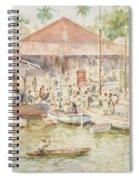The Market Belize British Honduras Spiral Notebook