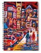 The Night Life On Crescent Street Spiral Notebook