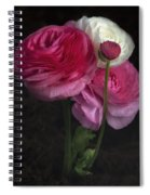 Three And A Half Blooms Spiral Notebook