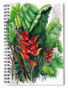 Tiger Claw .. Heliconia Spiral Notebook