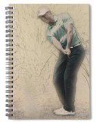Tiger Woods Hits From A Access Road Spiral Notebook