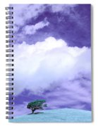 Tree Clouds Hill Spiral Notebook