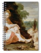 Venus And Cupid Warming Themselves  Spiral Notebook