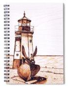 Vermilion Lighthouse Spiral Notebook