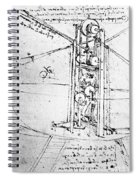 Vertically Standing Bird's Winged Flying Machine Spiral Notebook