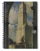 View Of The Woolworth Building Spiral Notebook