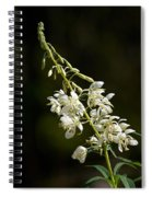 White Fireweed Spiral Notebook