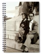 With Dad On Mount Royal Spiral Notebook