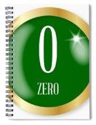 0 For Zero Spiral Notebook