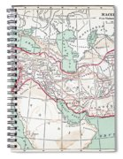 Map Of Macedonian Empire Spiral Notebook