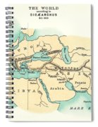 World Map, C300 B.c Spiral Notebook