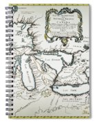 Great Lakes Map, 1755 Spiral Notebook